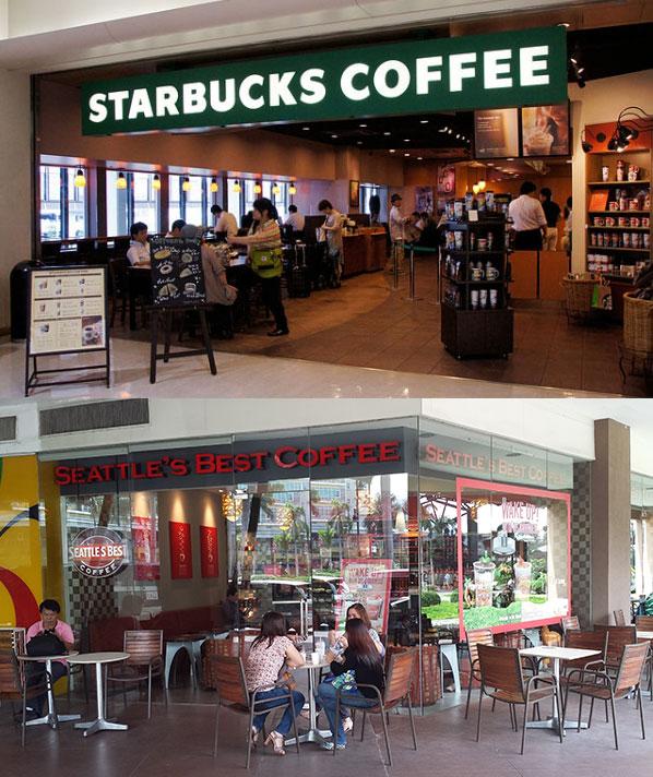 Хитрые маркетинговые ходы - «Starbucks» и «Seattle's best»
