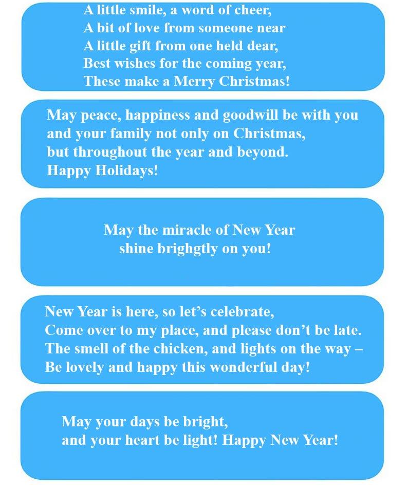 новогодние пожелания на английском
