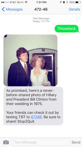 предвыборная смс-кампания хиллари клинтон